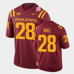 Men Iowa State Cyclones Breece Hall 2021 Fiesta Bowl Cardinal College Football Jersey 0A