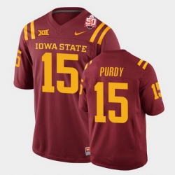 Men Iowa State Cyclones Brock Purdy 2021 Fiesta Bowl Cardinal College Football Jersey 0A