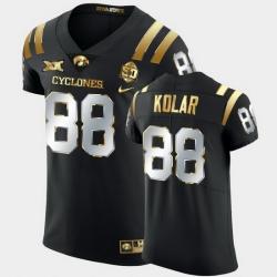 Men Iowa State Cyclones Charlie Kolar 2021 Fiesta Bowl Black Golden Edition Jersey