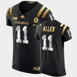 Men Iowa State Cyclones Chase Allen 2021 Fiesta Bowl Black Golden Edition Jersey