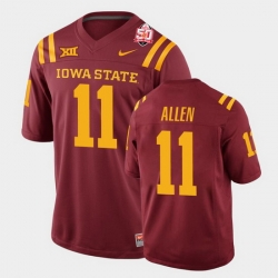 Men Iowa State Cyclones Chase Allen 2021 Fiesta Bowl Cardinal College Football Jersey 0A