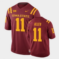 Men Iowa State Cyclones Chase Allen College Football Cardinal Replica Jersey