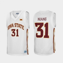 Men Iowa State Cyclones Georges Niang Alumni White College Baketball Jersey