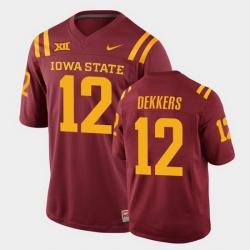 Men Iowa State Cyclones Hunter Dekkers College Football Cardinal Replica Jersey