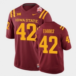 Men Iowa State Cyclones Jack Tiarks 2021 Fiesta Bowl Cardinal College Football Jersey 0A