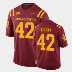 Men Iowa State Cyclones Jack Tiarks College Football Cardinal Replica Jersey