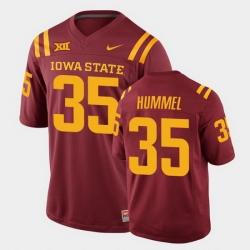 Men Iowa State Cyclones Jake Hummel College Football Cardinal Replica Jersey