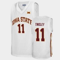 Men Iowa State Cyclones Jamaal Tinsley Alumni White College Basketball Jersey