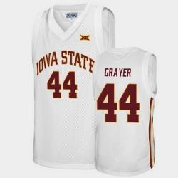 Men Iowa State Cyclones Jeff Grayer Alumni White College Basketball Jersey