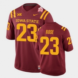 Men Iowa State Cyclones Mike Rose 2021 Fiesta Bowl Cardinal College Football Jersey 0A