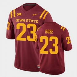 Men Iowa State Cyclones Mike Rose College Football Cardinal Replica Jersey