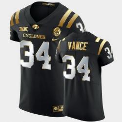 Men Iowa State Cyclones O'Rien Vance 2021 Fiesta Bowl Black Golden Edition Jersey