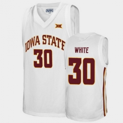 Men Iowa State Cyclones Royce White Alumni White College Basketball Jersey