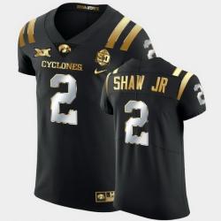 Men Iowa State Cyclones Sean Shaw Jr. 2021 Fiesta Bowl Black Golden Edition Jersey
