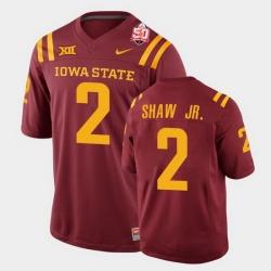 Men Iowa State Cyclones Sean Shaw Jr. 2021 Fiesta Bowl Cardinal College Football Jersey 0A