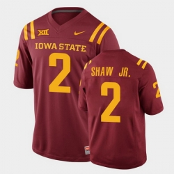 Men Iowa State Cyclones Sean Shaw Jr. College Football Cardinal Replica Jersey