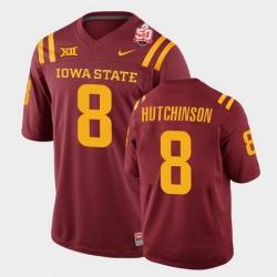 Men Iowa State Cyclones Xavier Hutchinson 2021 Fiesta Bowl Cardinal College Football Jersey 0A