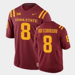 Men Iowa State Cyclones Xavier Hutchinson College Football Cardinal Replica Jersey