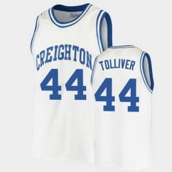 Men Creighton Bluejays Anthony Tolliver Alumni White College Basketball Jersey