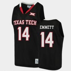 Men Texas Tech Red Raiders Andre Emmett Alumni Black Basketball Jersey