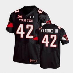 Men Texas Tech Red Raiders Chux Nwabuko Iii Replica Black Football Team Jersey