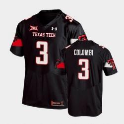 Men Texas Tech Red Raiders Henry Colombi Replica Black Football Team Jersey