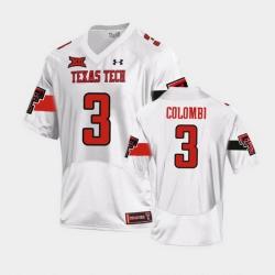 Men Texas Tech Red Raiders Henry Colombi Replica White Football Team Jersey