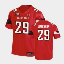 Men Texas Tech Red Raiders Kendell Jimerson Replica Red Football Team Jersey