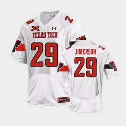 Men Texas Tech Red Raiders Kendell Jimerson Replica White Football Team Jersey