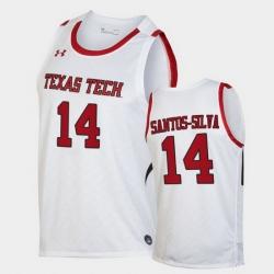 Men Texas Tech Red Raiders Marcus Santos Silva Replica White Basketball 2020 21 Jersey