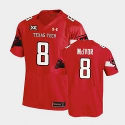 Men Texas Tech Red Raiders Maverick Mcivor Replica Red Football Team Jersey