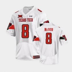 Men Texas Tech Red Raiders Maverick Mcivor Replica White Football Team Jersey
