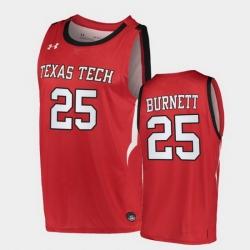 Men Texas Tech Red Raiders Nimari Burnett Alternate Red Basketball 2020 21 Jersey