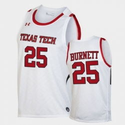 Men Texas Tech Red Raiders Nimari Burnett Replica White Basketball 2020 21 Jersey