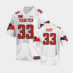 Men Texas Tech Red Raiders Ronnie Hart Replica White Football Team Jersey