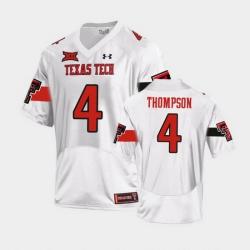 Men Texas Tech Red Raiders Sarodorick Thompson Replica White Football Team Jersey