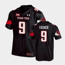 Men Texas Tech Red Raiders T.J. Vasher Replica Black Football Team Jersey