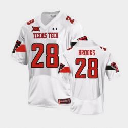 Men Texas Tech Red Raiders Tahj Brooks Replica White Football Team Jersey