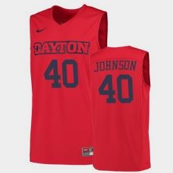 Men Dayton Flyers Chase Johnson College Basketball Red Jersey