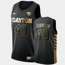 Men Dayton Flyers Chase Johnson Golden Edition Black Limited Jersey