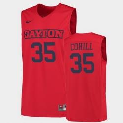 Men Dayton Flyers Dwayne Cohill College Basketball Red Jersey