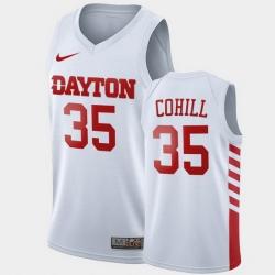 Men Dayton Flyers Dwayne Cohill College Basketball White Jersey