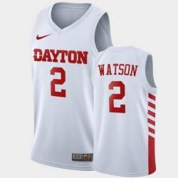 Men Dayton Flyers Ibi Watson College Basketball White Jersey