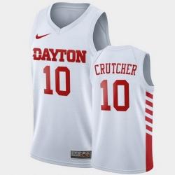 Men Dayton Flyers Jalen Crutcher College Basketball White Jersey