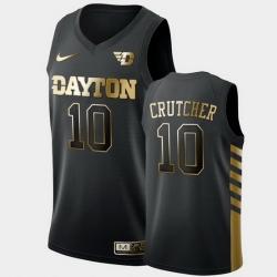 Men Dayton Flyers Jalen Crutcher Golden Edition Black Limited Jersey