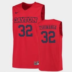 Men Dayton Flyers Jordy Tshimanga College Basketball Red Jersey