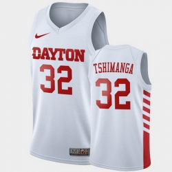 Men Dayton Flyers Jordy Tshimanga College Basketball White Jersey