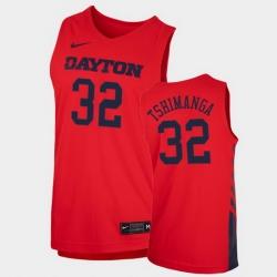 Men Dayton Flyers Jordy Tshimanga Replica Red College Basketball 2020 21 Jersey