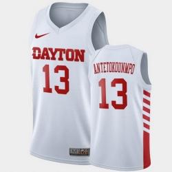 Men Dayton Flyers Kostas Antetokounmpo College Basketball White Jersey