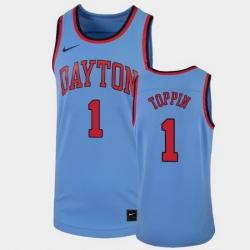 Men Dayton Flyers Obi Toppin College Basketball Light Blue Replica Jersey